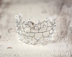 61_Bridal bracelet silver Crystal bridal bracelet Twigs bracelet Vine jewelry,Wedding jewelry,Bracelet bride,Bridesmaid gift Womens bracelet