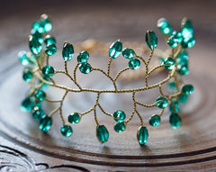 61_Green bracelet, Emerald jewelry, Emerald crystal bracelet, Jewelry gold, Wedding bracelet,Delicate jewelry,Wedding jewelry,Wedding.