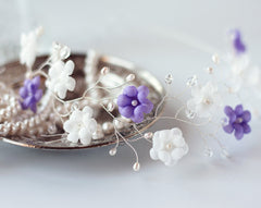 51_Gold crown, White flower crown, Wedding hair accessories, Floral crown, Hair piece flowers, Wedding tiara Flower crown Circlet of flowers