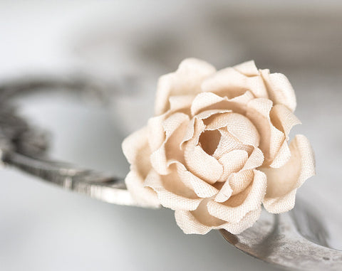 778_Beige flower, Fabric ring, Cotton ring, Nude color flower, Flowers, Flower, Ring flower, Flower ring, Fabric rings, Textile jewellery