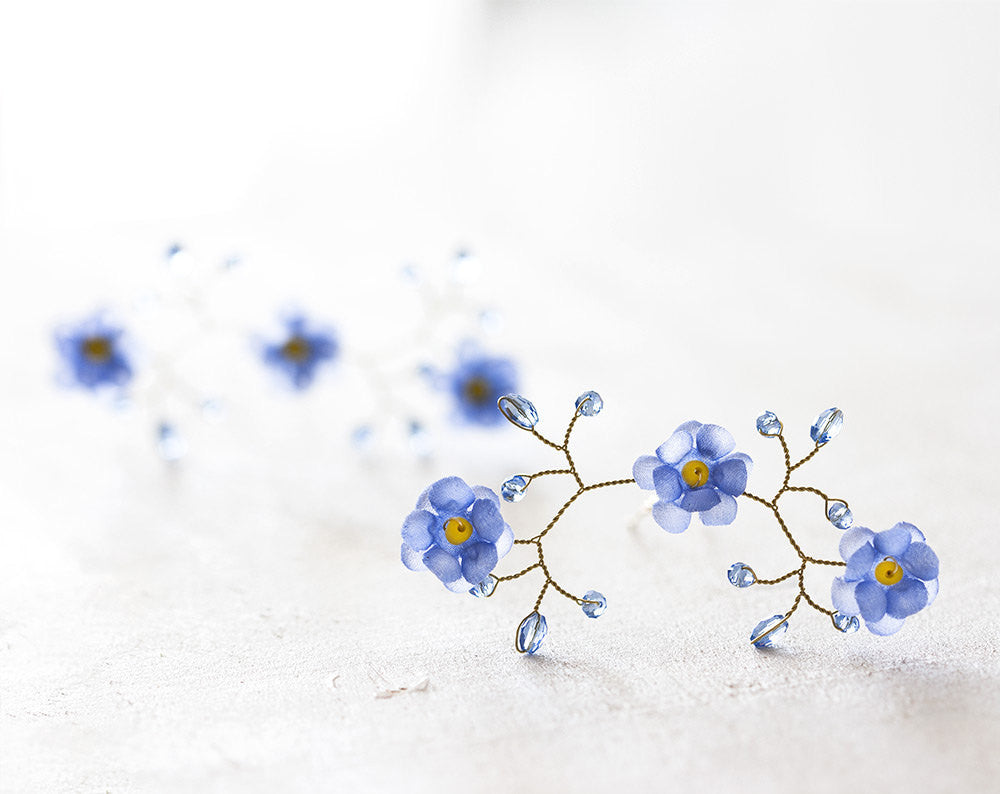 3262forget me not blue flower hair accessories wedding set 3262forget me not blue flower hair accessories wedding set bridal accessories izmirmasajfo Gallery