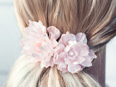 7141_Blush bridal hair flower, Pink hair clip flower wedding, Bridal hair flowers, Floral hair accessories, Hair flower, Flowers for hair