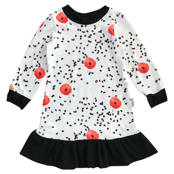 Bower Dress in Poppy Print