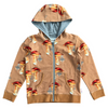Eagel Hoody Jacket in Mushroom Chandeliers Walnut Print