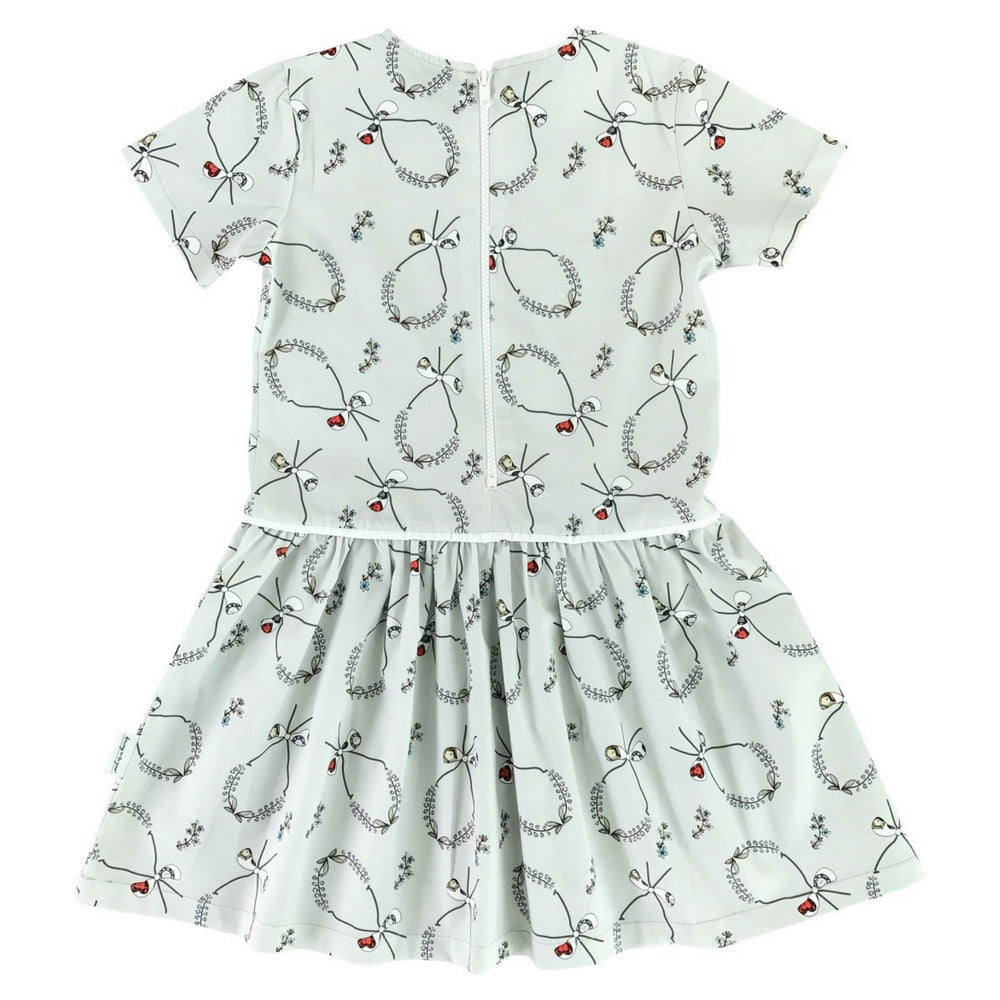 Swan Dress in the Midsummer Crowns Print