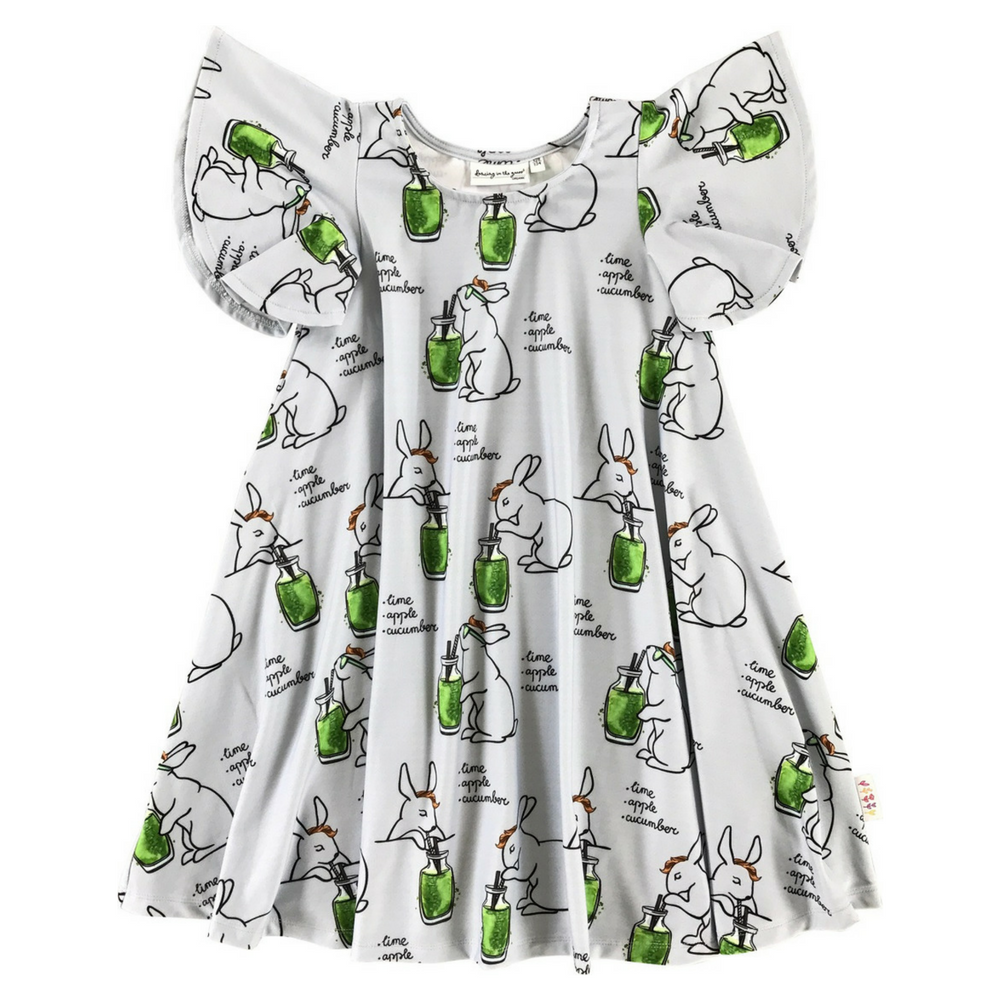 Butterfly Dress in Cool Bunny
