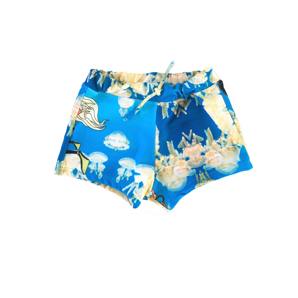 Boys Swim shorts in Jellyfish Print