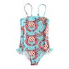 Seagull Swimsuit in Strawberry Crab Print
