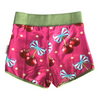 Duck shorts in Cherries Bouquets Print