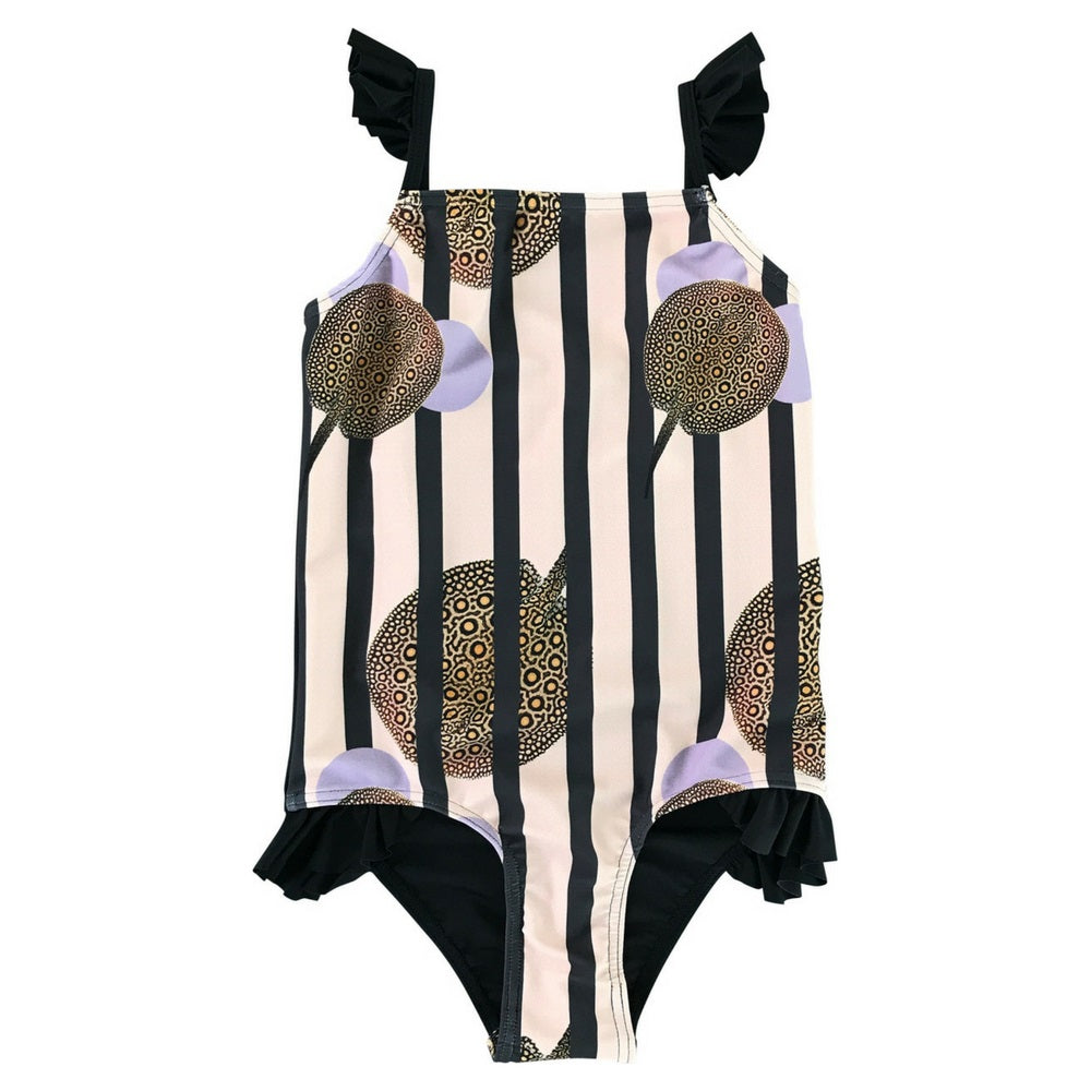 Heron Swimsuit in Striped Stingray