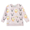 Bumblebee Sweatshirt in Lipstick Apples Print