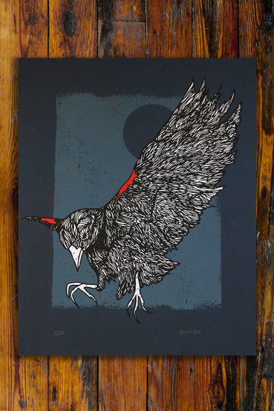 Blackbird / Screen Printed Art Print