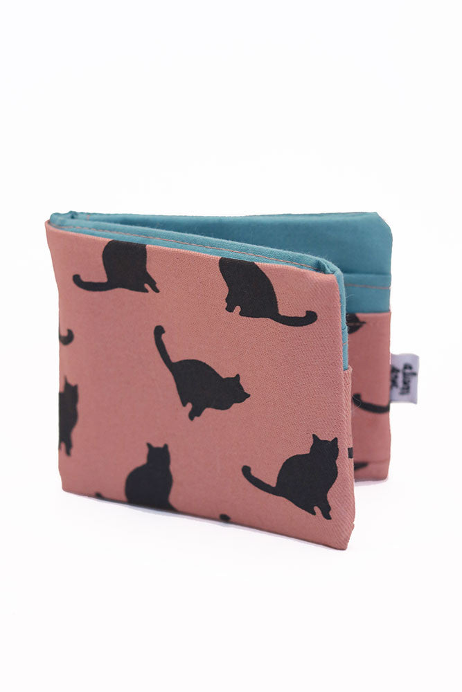 Pink Kitties Bifold Fabric Wallet