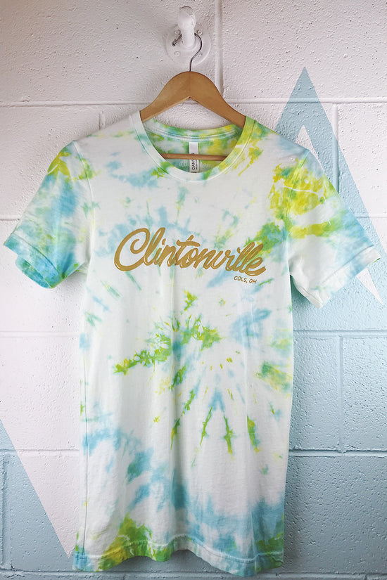 Clintonville Neighborhood Tie Dyed Mens T-shirt