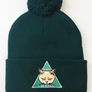 Don't be a D*ck Dark Green Pom Pom Beanie