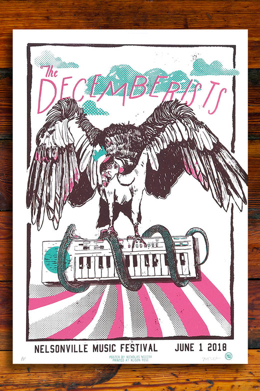 The Decemberists Screen Printed Gig Poster