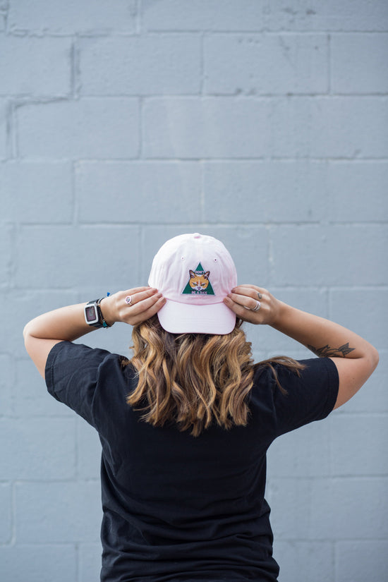 Don't be a D*ck Light Pink Twill Hat