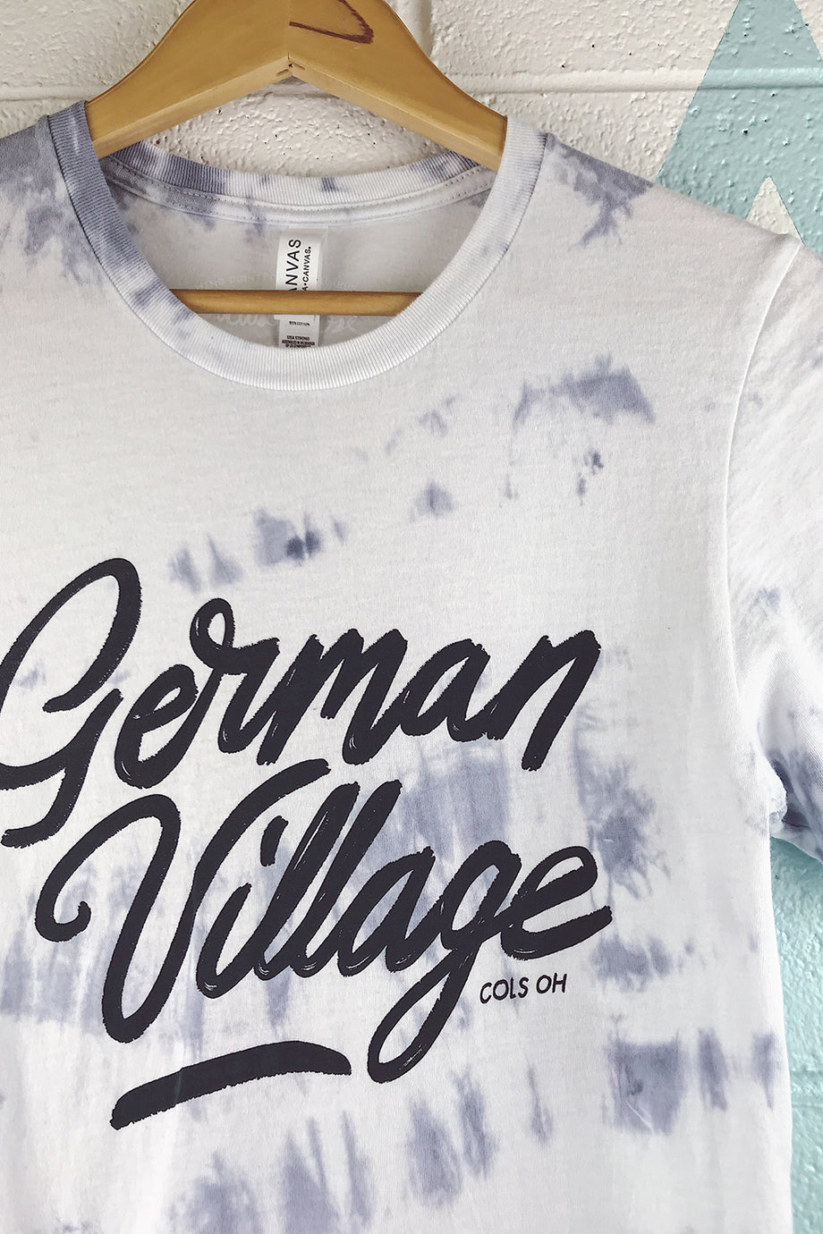 German Village Neighborhood Tie Dyed Mens T-shirt