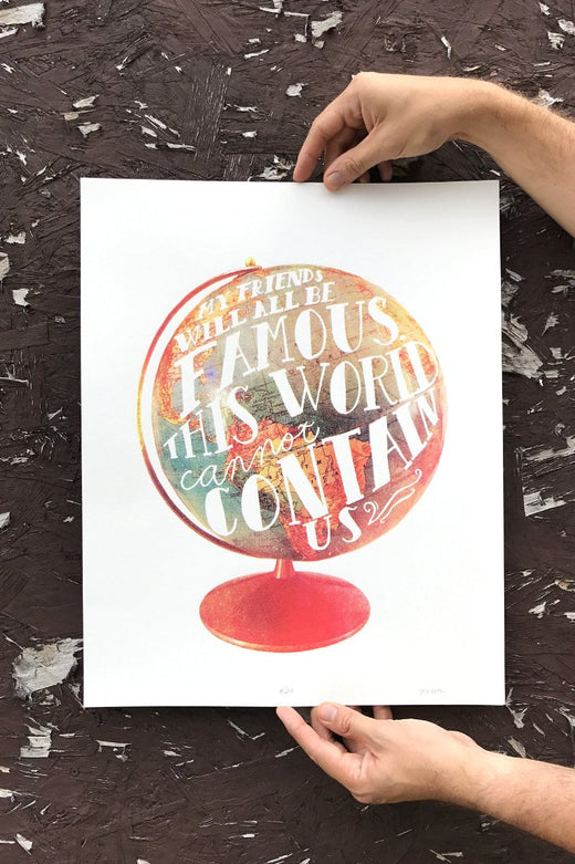 This World Cannot Contain Us Screen Printed Art Print