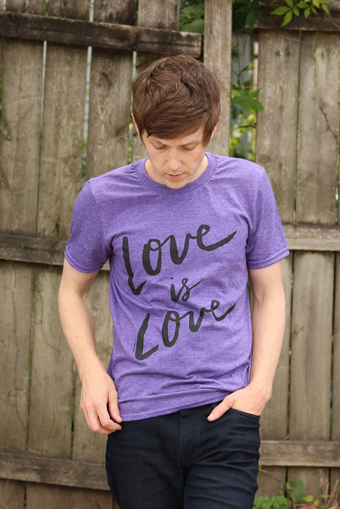 Love is Love Purple Mens T-shirt