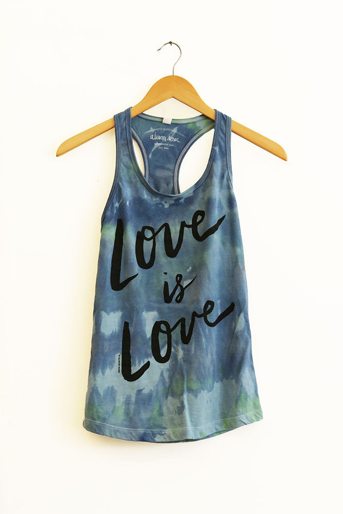 Love is Love Hand Dyed Ladies Tank Top