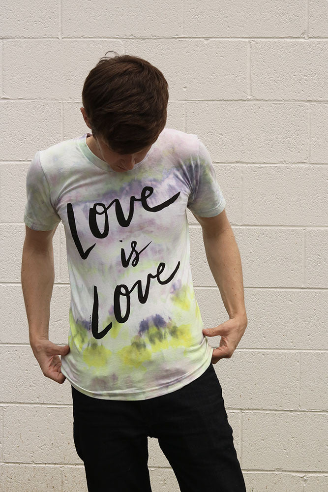 Love is Love Hand Dyed Mens T-shirt