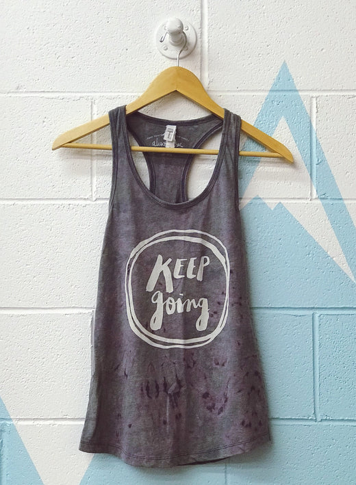 Keep Going Hand Dyed Ladies Tank Top