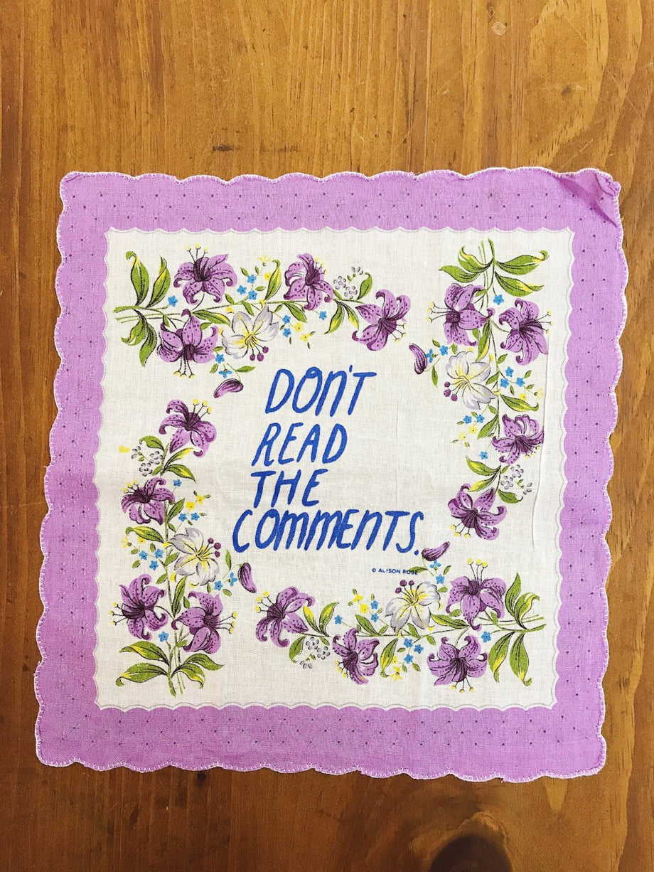 Don't Read The Comments Pocket Handkerchief