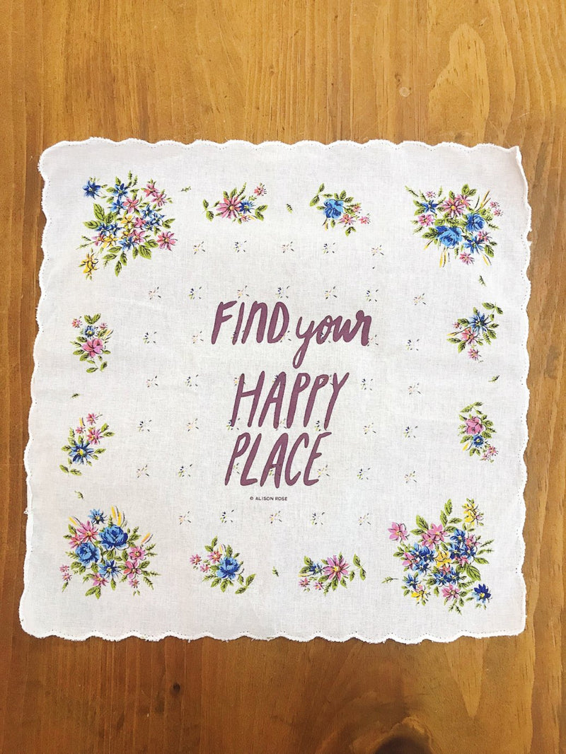Find Your Happy Place Pocket Handkerchief