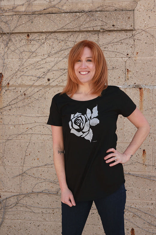 Rose Logo Ladies T-shirt