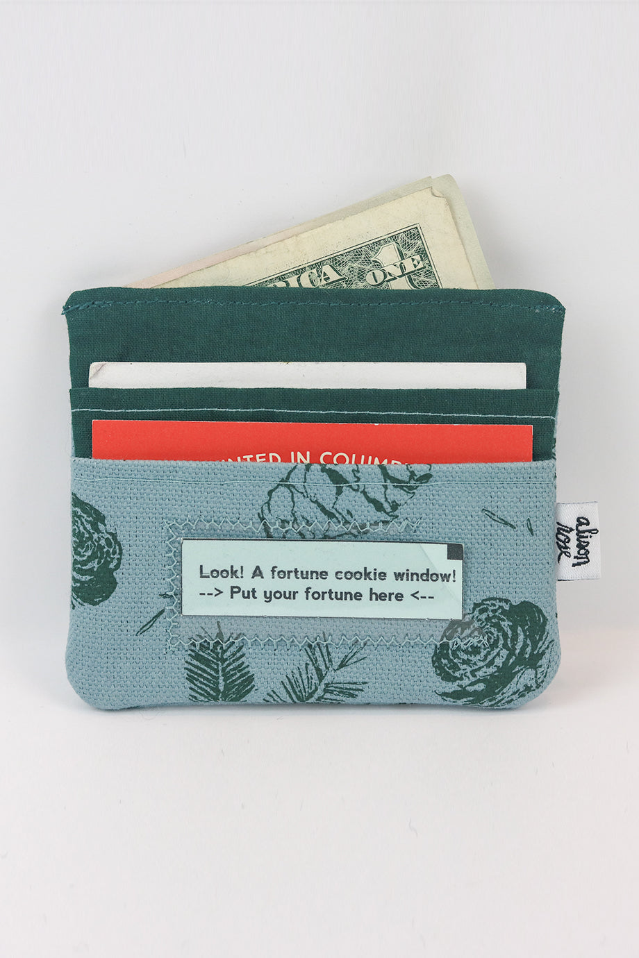 Blue/Green Pine Slim Fabric Wallet