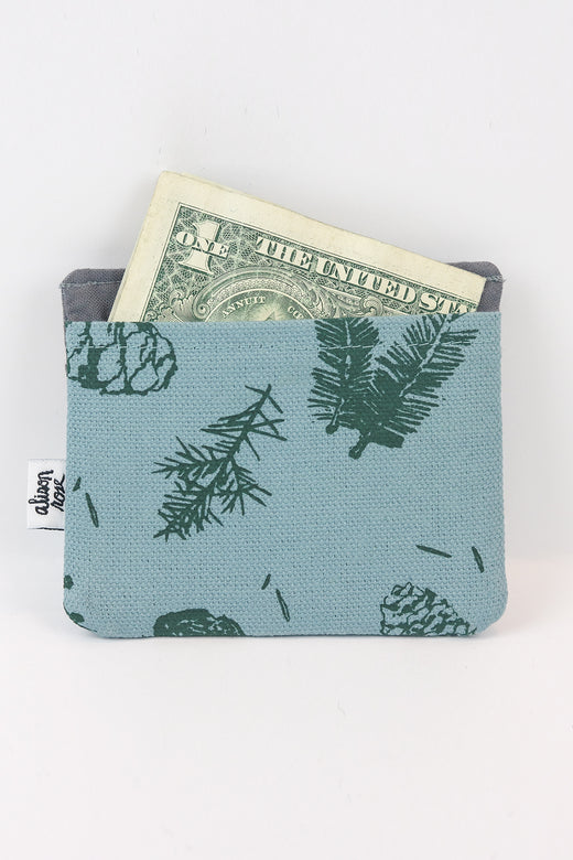 Blue/Grey Pine Slim Fabric Wallet