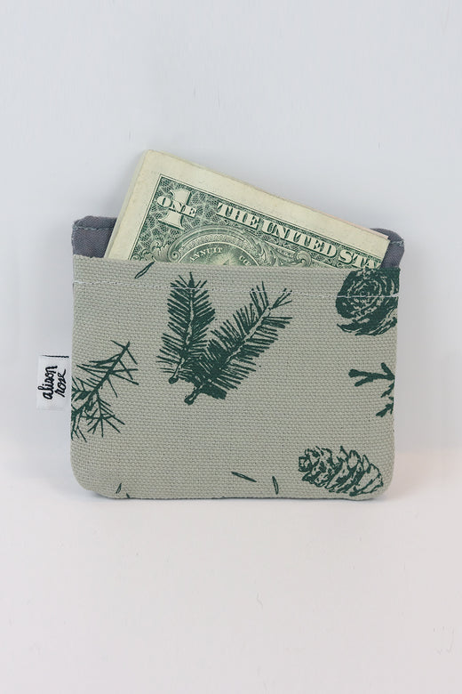 Grey Pine Slim Fabric Wallet