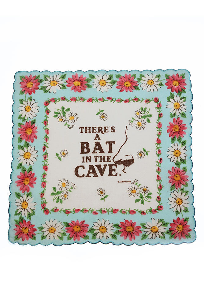 There's a Bat in the Cave Pocket Handkerchief