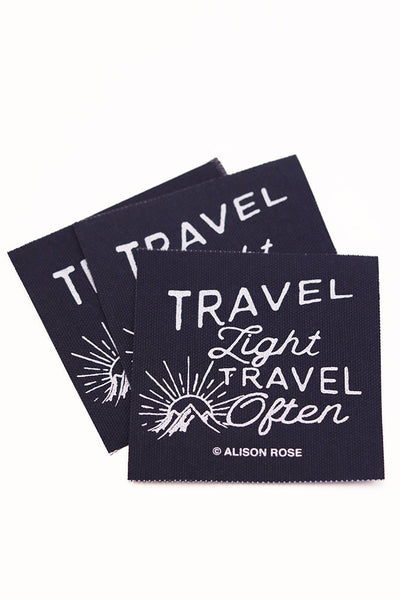 Travel Light, Travel Often Navy Screen Printed Patch