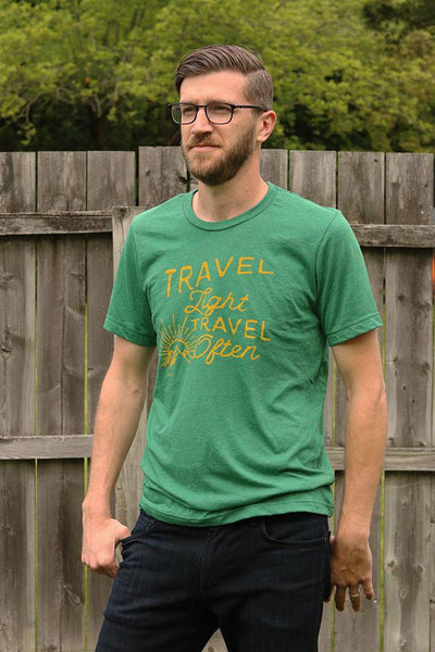 Travel Light, Travel Often T-shirt- Full View