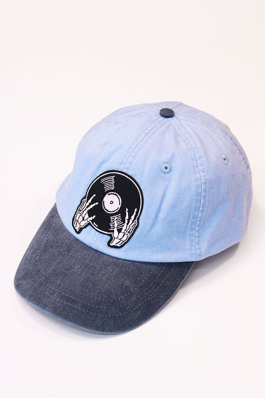 Vinyl is not Dead Blue Twill Hat