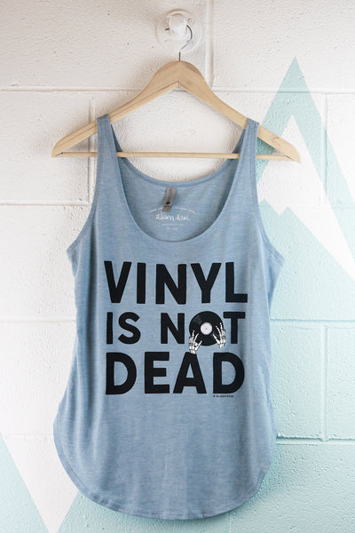 Vinyl is Not Dead Text Tank Top