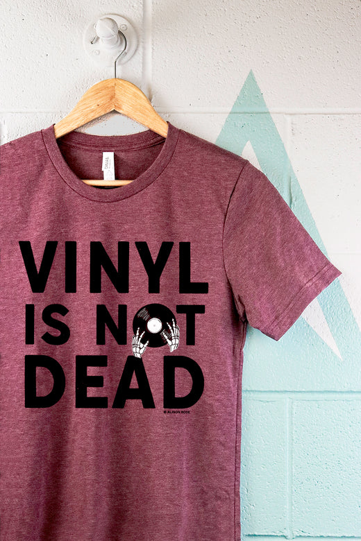 Vinyl Is Not Dead Text Mens T-shirt