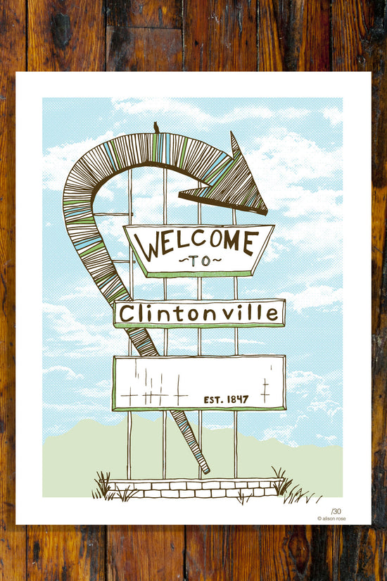 Welcome to Clintonville Giclee Art Print