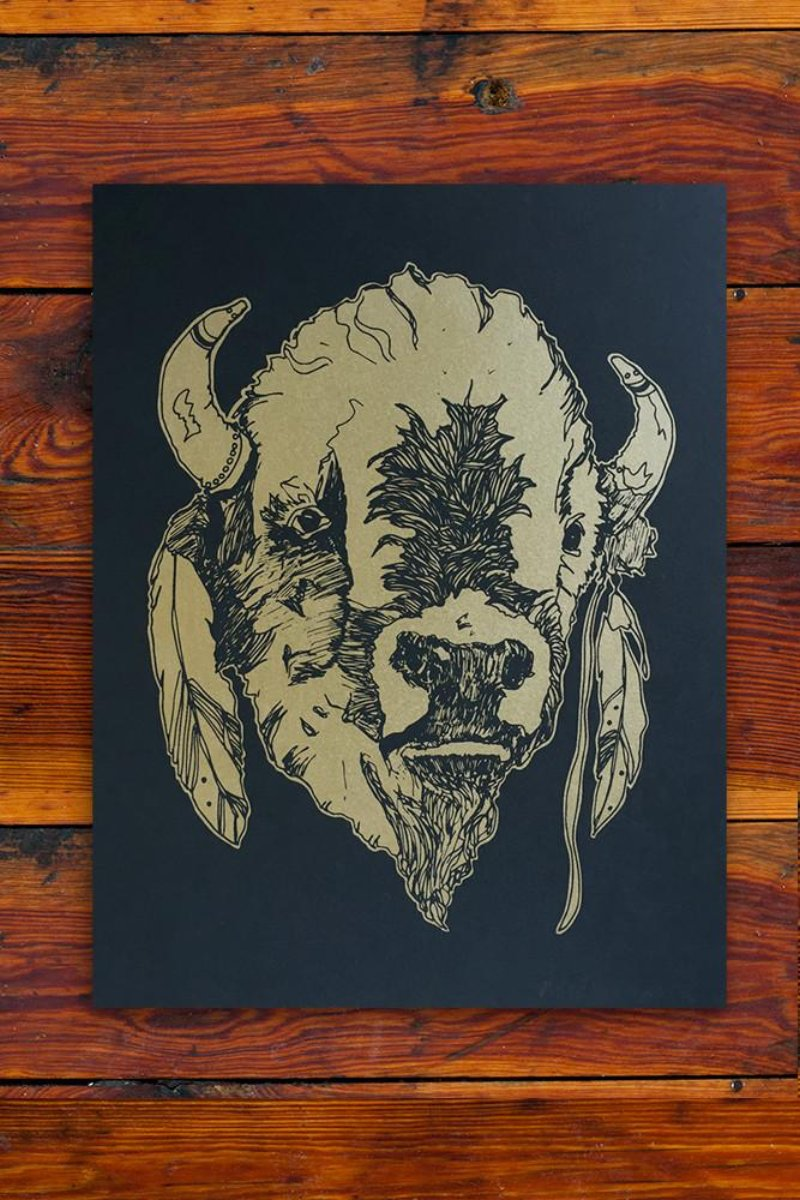 Buffalo / Screen Printed Art Print