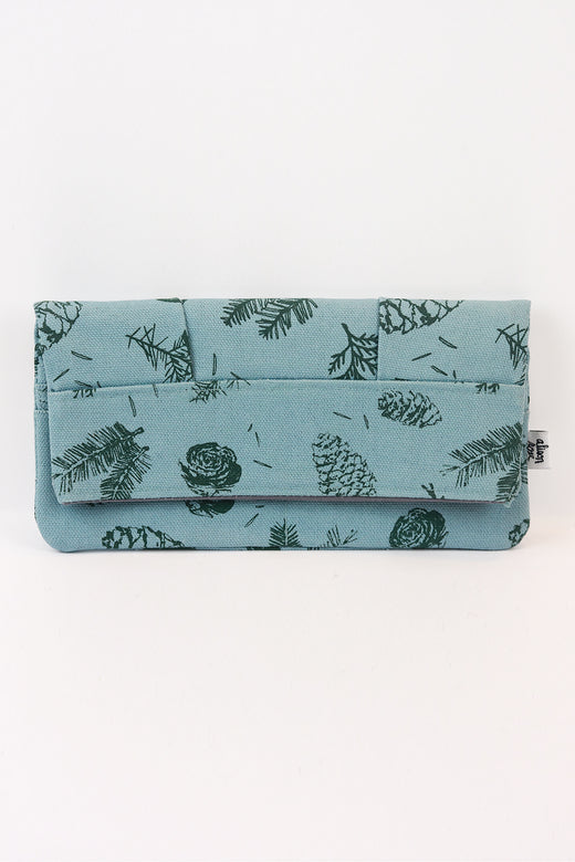 Blue Pine Clutch Zipper Wallet