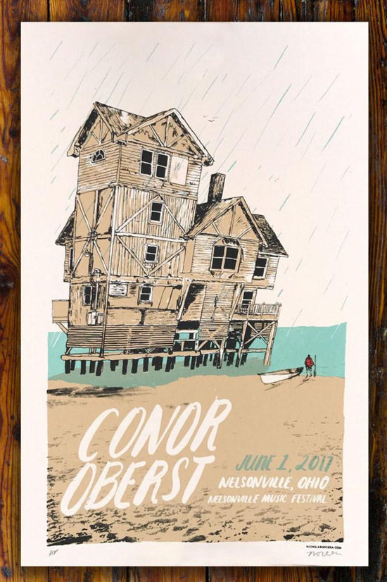 Conor Oberst Nelsonville Music Festival / Screen Printed Gig Poster