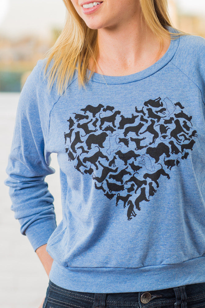 Dog Heart Ladies Pullover