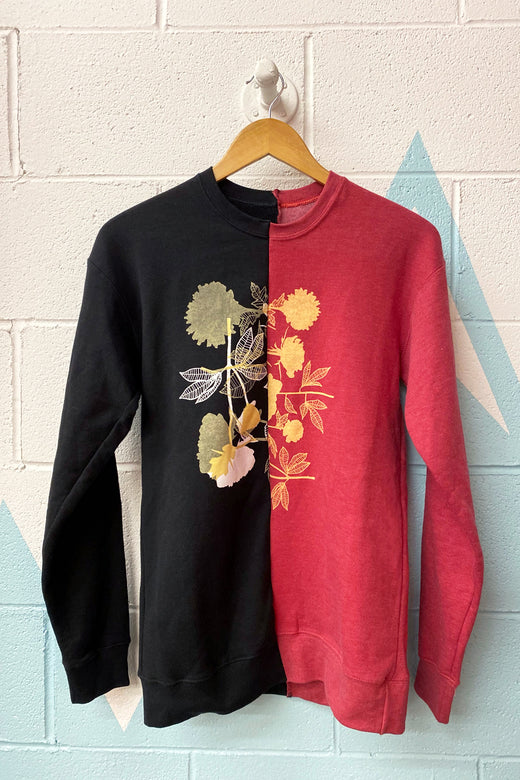 Limited Edition Flowers half n' half Crewneck Sweatshirt