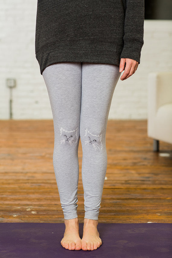 Ladies Pissy Kitty Screen Printed Leggings