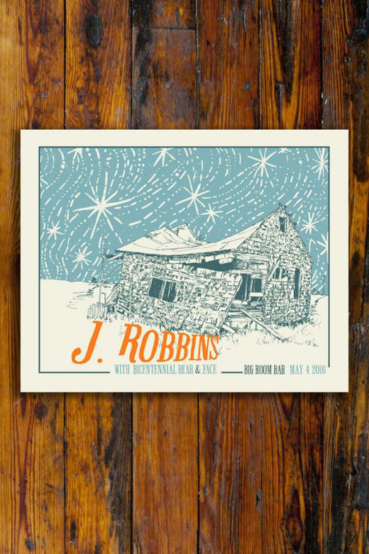 J.Robbins (Jawbox, Burning Airlines) / Screen Printed Gig Poster