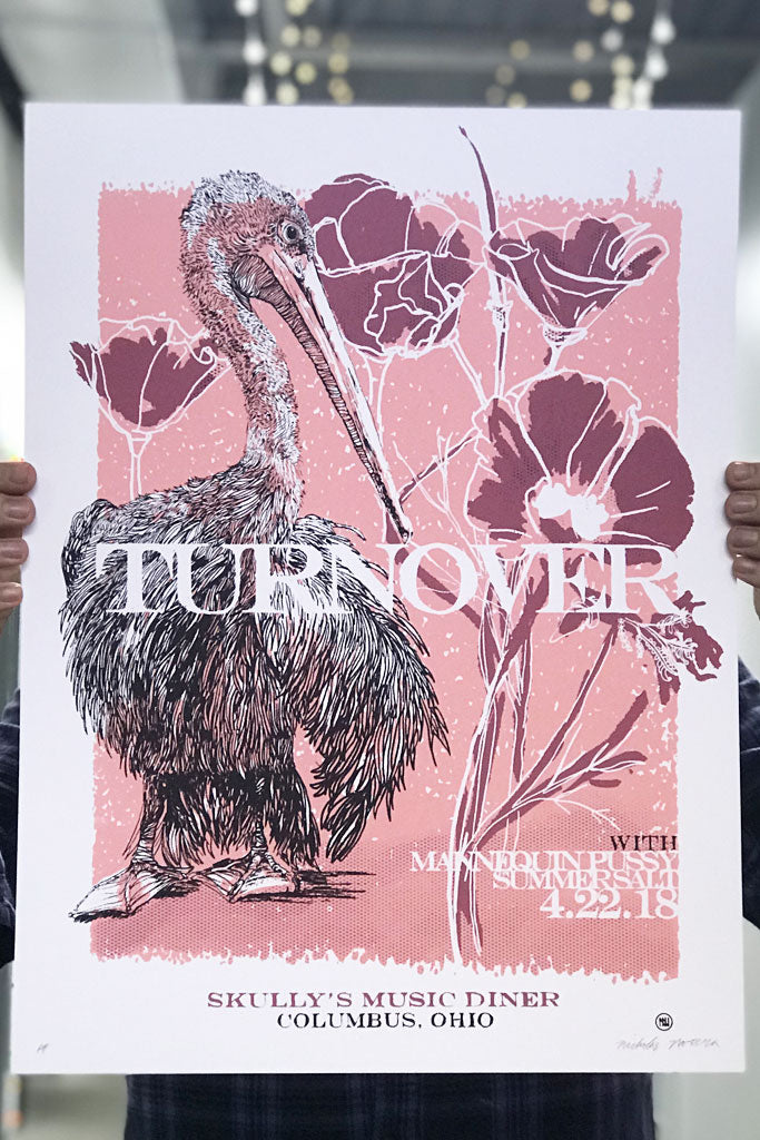 Turnover Screen Printed Gig Poster