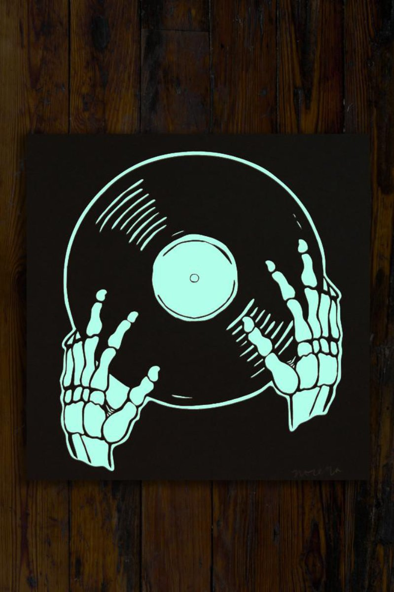 Vinyl is Not Dead / Screen Printed Art Print