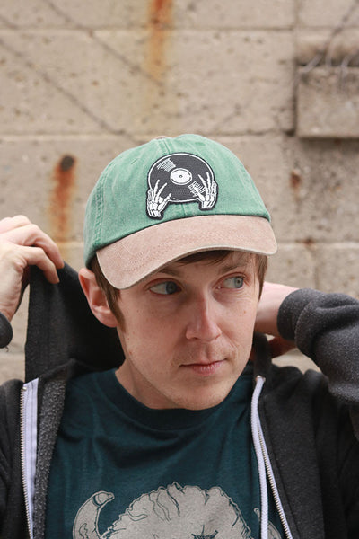 Vinyl is not Dead Forest Green Twill Hat